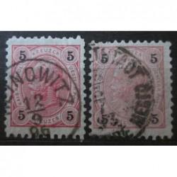Rakouská známka 5 Heller perforace