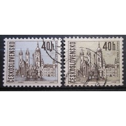 Československo chybí modrá barva 3032