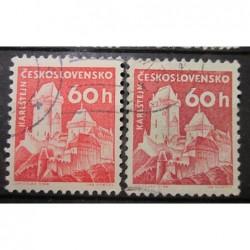 Československo známky 3037 rozdílný papír