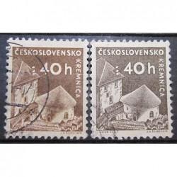 Československo partie známek 3047 rozdílný papír