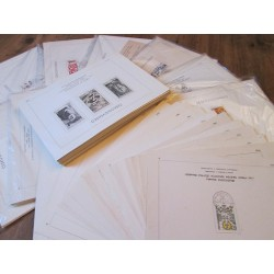 Nálepní listy ČSSR cca 400 až 500 kusů