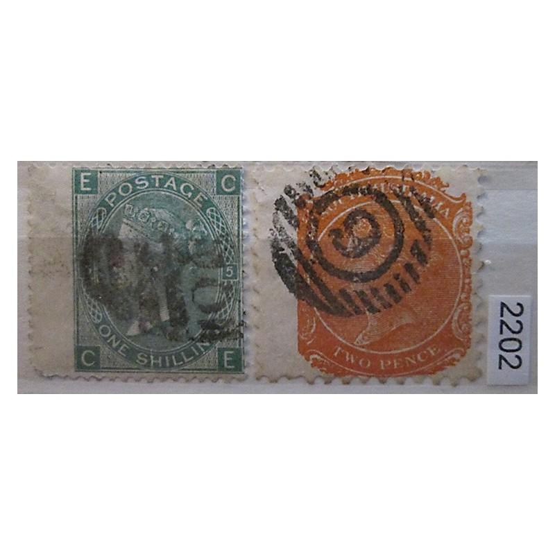 Anglie partie známek 2202