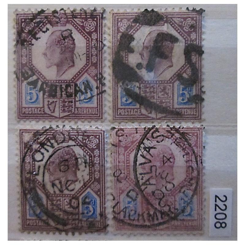 Anglie partie známek 2208