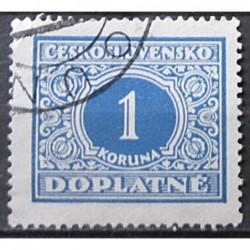 Československo Doplatné 1 koruna