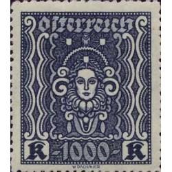 Rakouská známka 1000 modrá