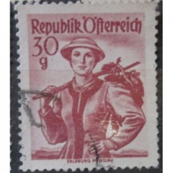 Rakouská známka 30g červená