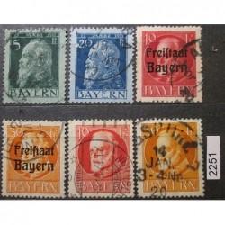 Německo Bayern partie známek 2251