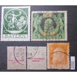 Německo Bayern partie známek 2252