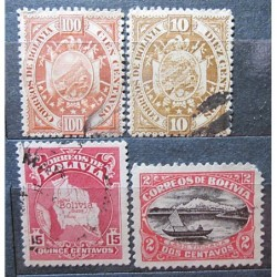 Bolivia set stamp 3024 Overprint