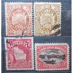 Bolívie partie známek 3024 přetisk