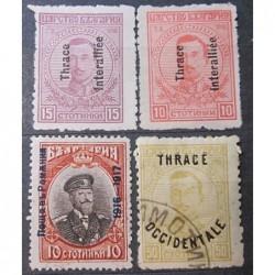 Bulharsko partie známek 3027 přetisk