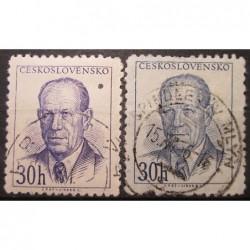 Československo partie známek 3035 odstín