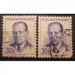 Československo partie známek 3036 odstín