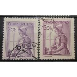 Československo partie známek 3038  odstín