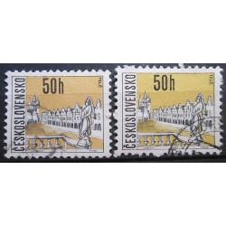 Československo partie známek 3048 rozdílný papír