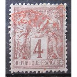 Francie známky 3129 červené razítko
