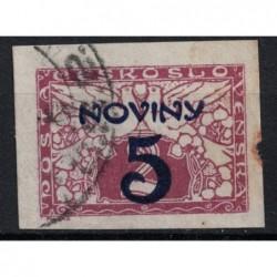 Československo 5 Noviny Známka 6243