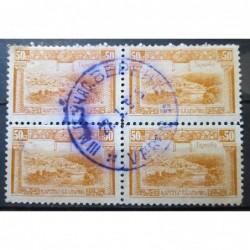 Čtyřblok s modrým razítkem 112_052
