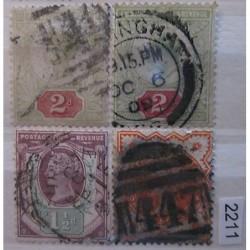 Anglie partie známek 2211
