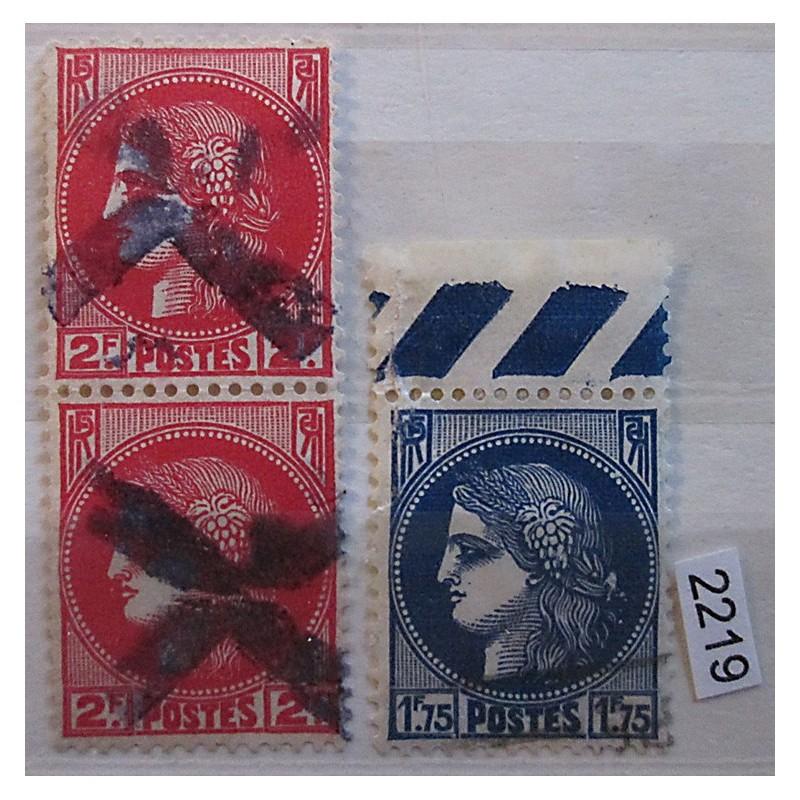 Francie partie známek 2219