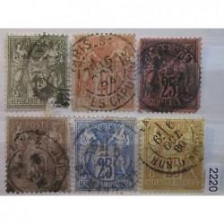 Francie partie známek 2220