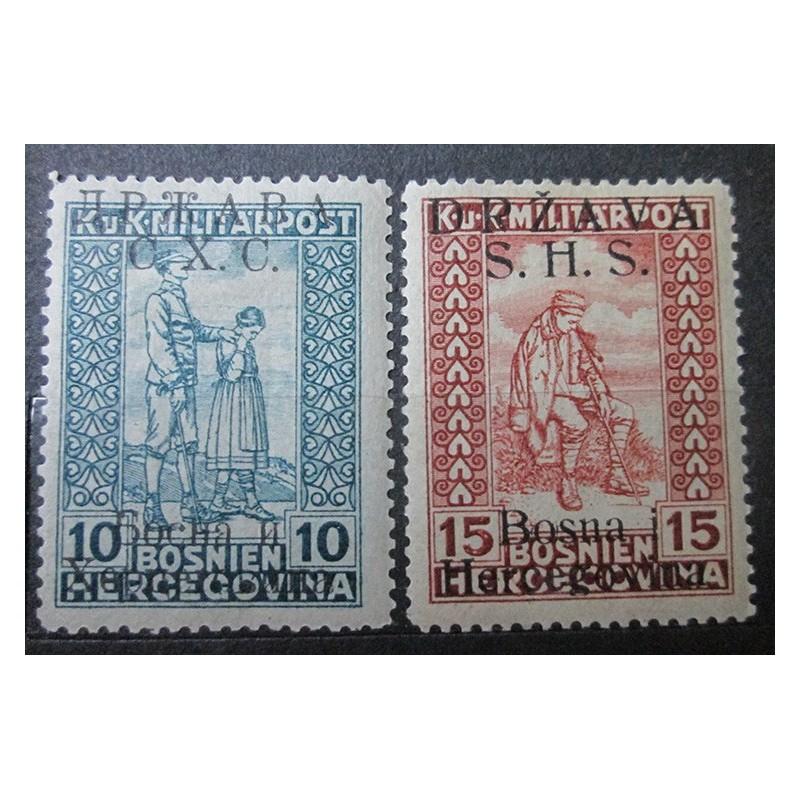 Bosna a Hercegovina s přetiskem SHS